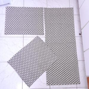 Jogo de Cozinha Asteca Preto Volpe Têxtil