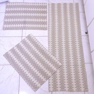 Jogo de cozinha Cristal Marrom Claro 3 peças Volpe Têxtil