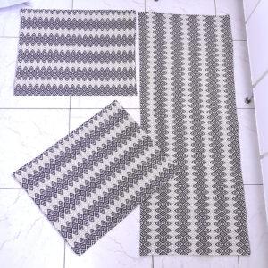 Jogo de cozinha Cristal Preto 3 peças Volpe Têxtil