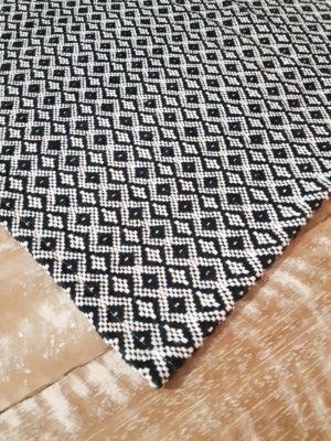 Tapete de Tear Celta Preto Volpe Têxtil