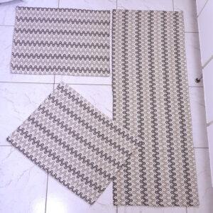 Jogo de cozinha Zig Marrom Escuro e Marrom Claro 3 peças Volpe Têxtil